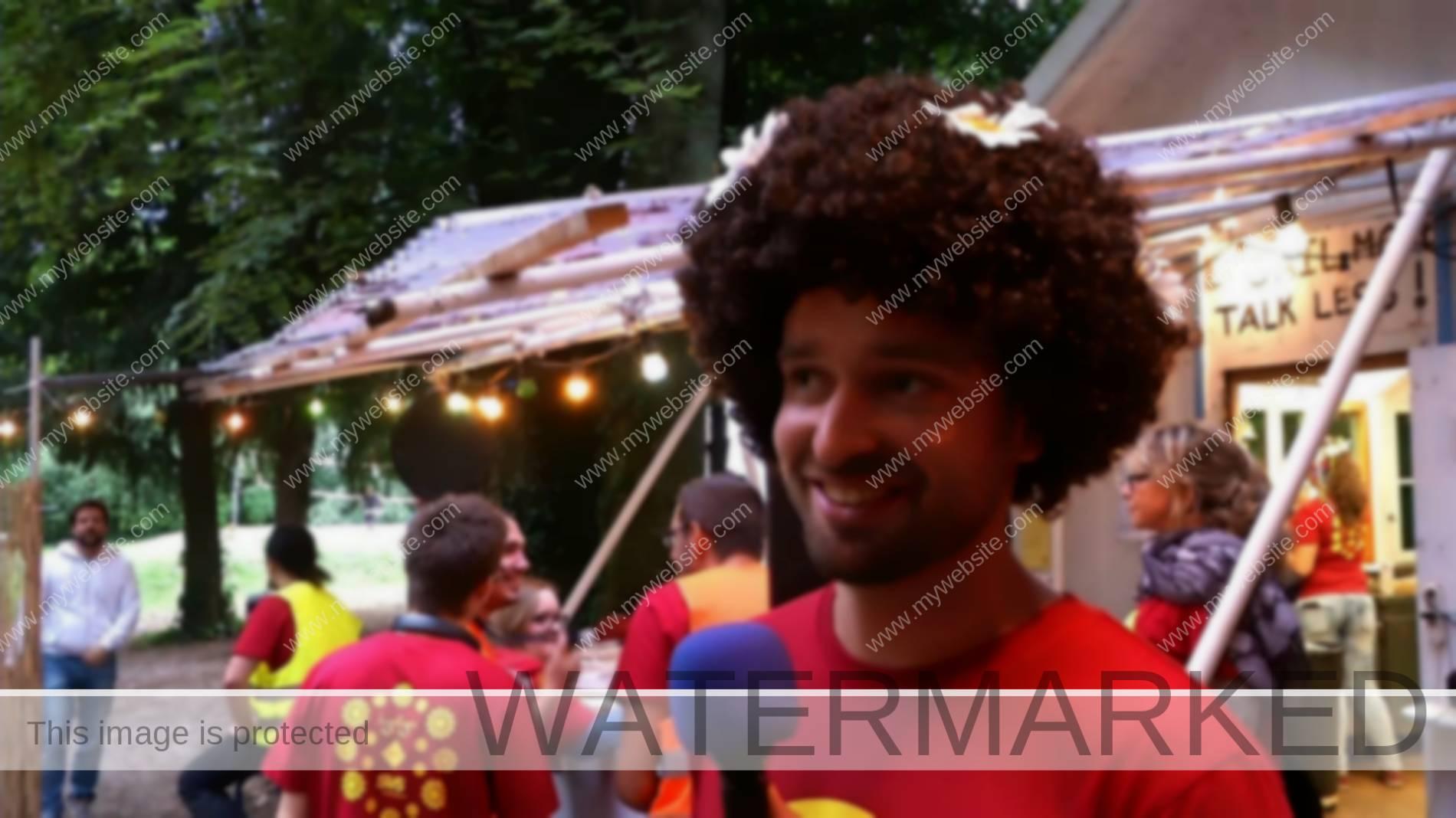 Mathias un bénévole du Zooloo festival