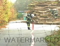 Exercice des pompiers de Versoix