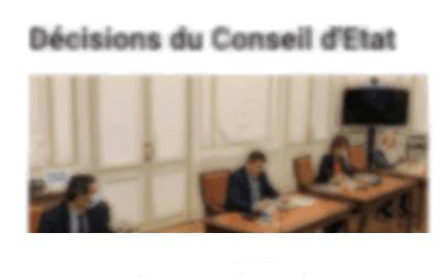 Capture écran Conseil d'Etat
